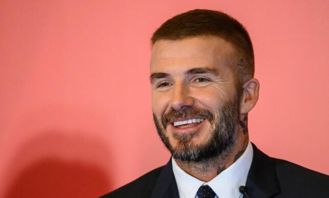 I DAG: David Beckham har gått for en mer beskjeden frisyre i 2018. Foto: NTB Scanpix