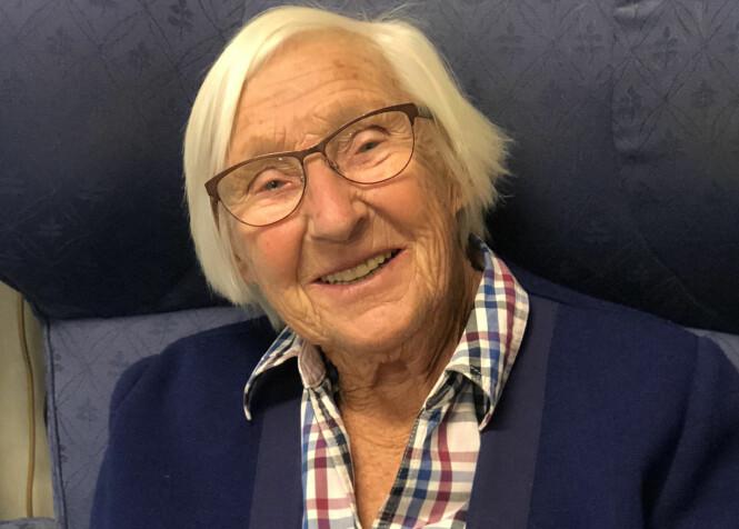 <strong>RANDI (91):</strong> Noe av det viktigste du kan gjøre for deg selv er å velge riktig yrke mener Randi fra Oslo. FOTO: Malini Gaare Bjørnstad