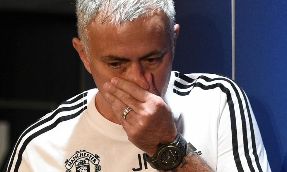 FORBEREDER STORKAMP: José Mourinho og Manchester United møter Juventus i Champions League tirsdag. Foto: NTB scanpix