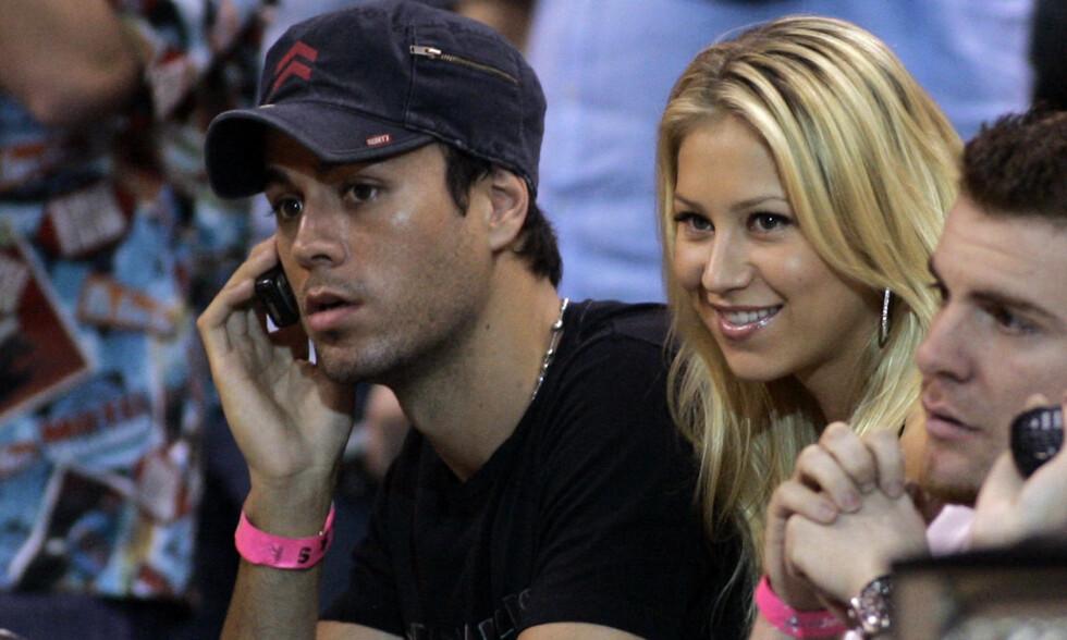 TVILLINGFORELDRE: Enrique Iglesias og kjæresten Anna Kournikova har vært kjærester i en rekke år, men er fortsatt svært forelsket i hverandre. Foto: NTB Scanpix