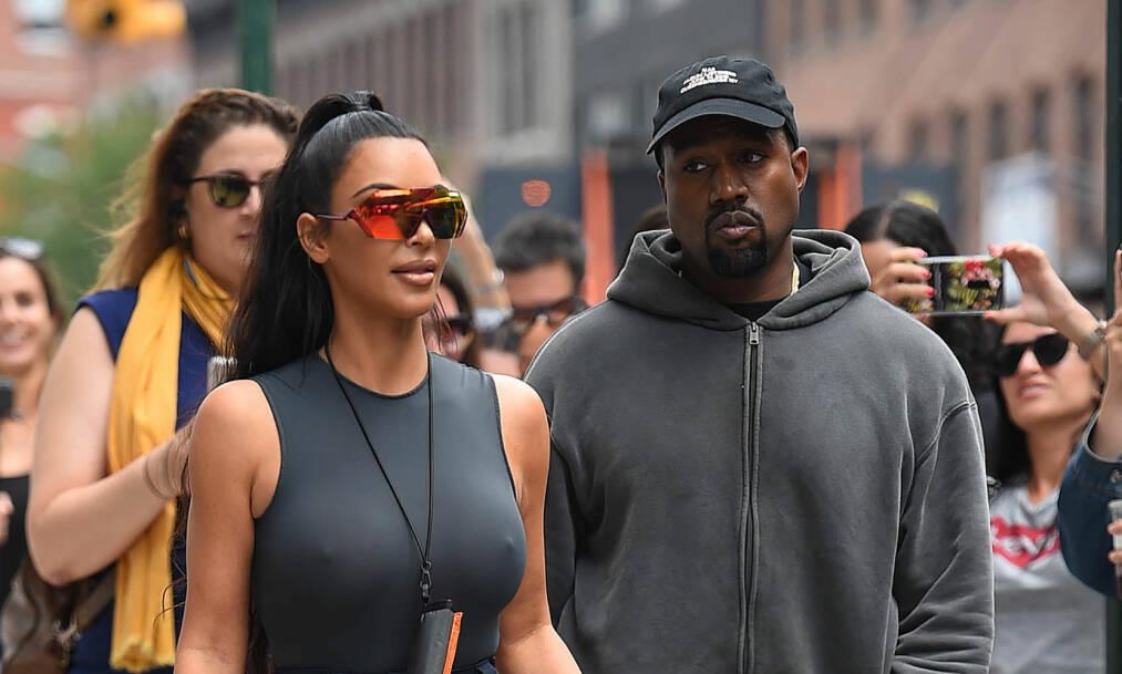 BRUDDRYKTER: Kanye West og Kim Kardashian har ifølge utenlandske medier den siste tiden hatt det svært tøft. I helgen slo Kanye tilbake mot bruddryktene med en helt spesiell overraskelse til kona. Foto: NTB Scanpix