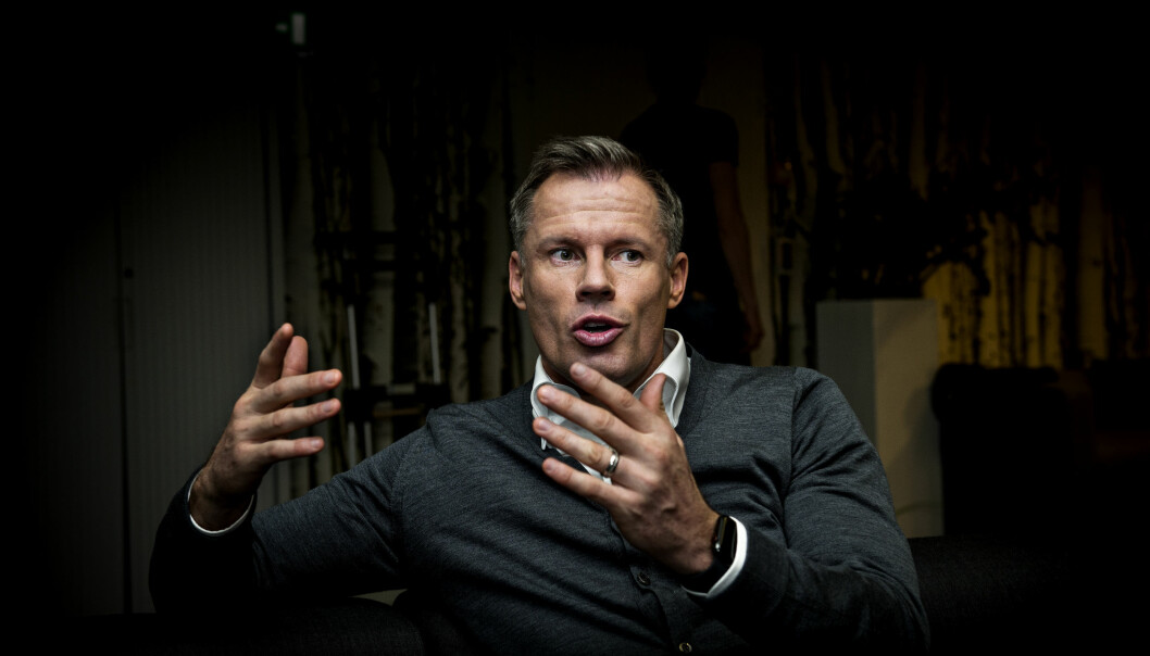 <strong>PÅ BESØK I OSLO:</strong> Dagbladet møtte Jamie Carragher i forbindelse med en Champions League-sending. Foto: John Terje Pedersen / Dagbladet