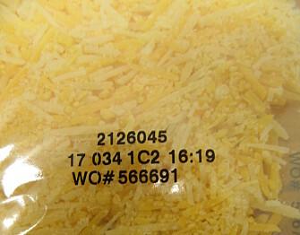 <strong>IMPORT:</strong> Det var ost av denne typen som ble avvist av Mattilsynet. Bildet stammer fra et helt likt vareparti fra 2017 som ble godkjent for import. Foto: Mattilsynet