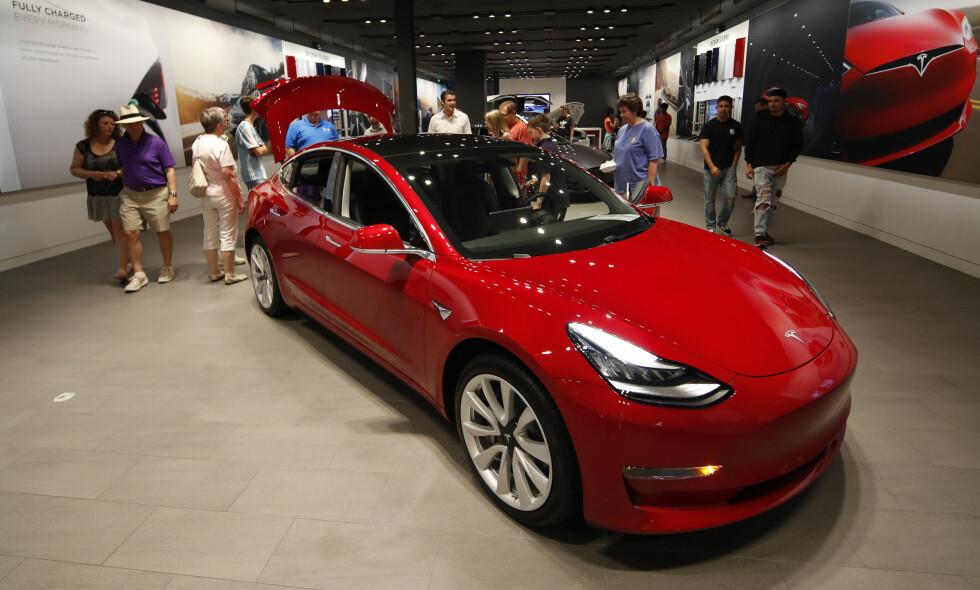 PÅ LISTA: Tesla-kjøperne er blant eierne som har sagt sin mening om de er fornøyd eller ei i Kantar TNS' ferske undersøkelse for 2018. Foto: NTB Scanpix