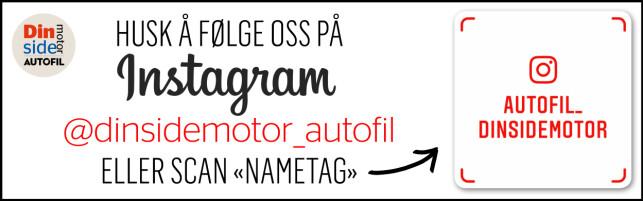 HUSK! Følg oss på Instagram: @dinsidemotor_autofil