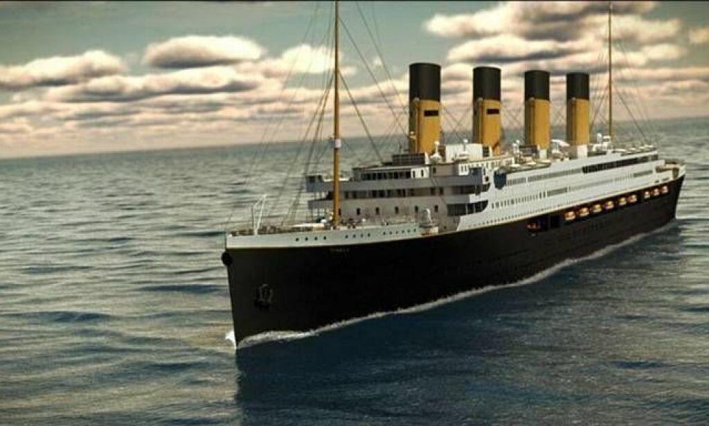 image: Slik skal det enorme skipet Titanic II se ut