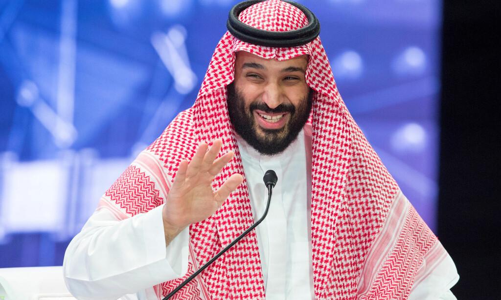 USKYLDIGHETEN SJØL: Mohammed bin Salman lot seg ikke affisere av Khashoggi-drapet på den internasjonale investorkonferansen i Saudi-Arabias hovedstad Riyadh onsdag. Foto: Det saudiarabiske hoff via Reuters/NTB Scanpix