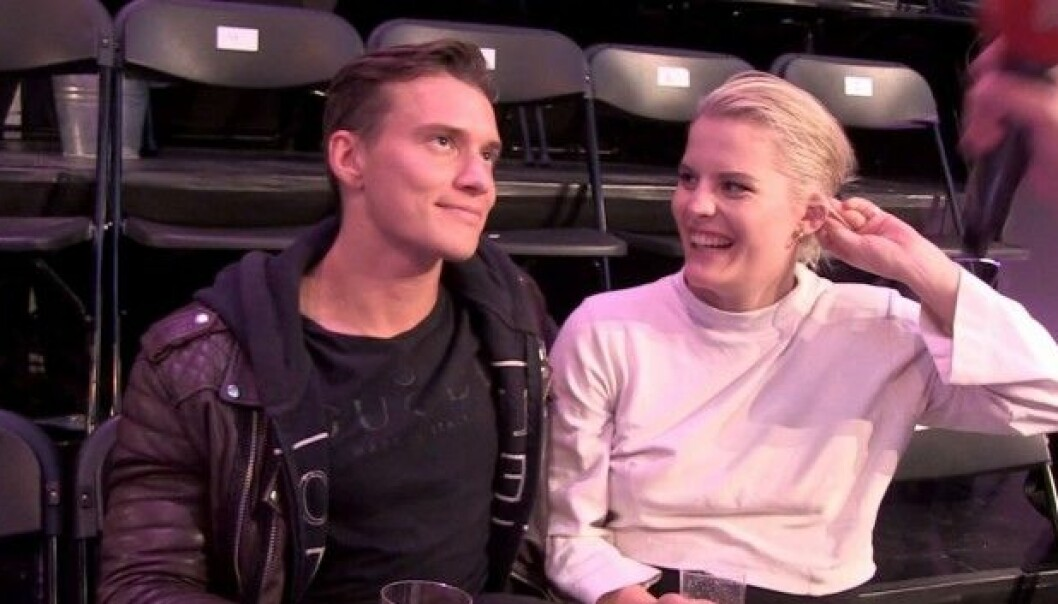 KJÆRESTER: Duoen kom sammen på «Skal vi danse»-premieren tidligere i høst. Foto: Helén Skogstad