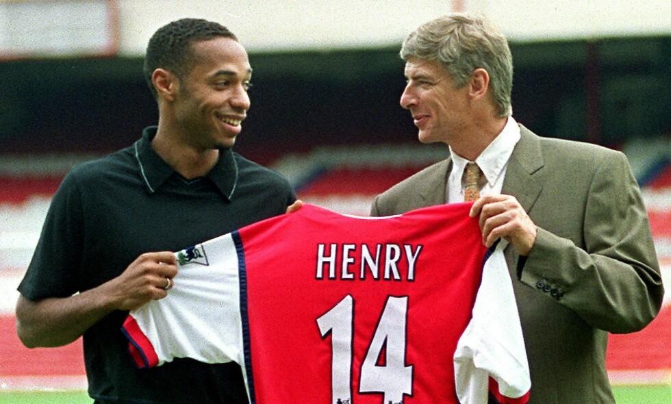 TUNG START: Thierry Henry ble hentet av Arsène Wenger i 1999. Den tidligere angriperen sleit stort i starten av karrieren. Foto: Sinead Lynch / AFP / NTB Scanpix