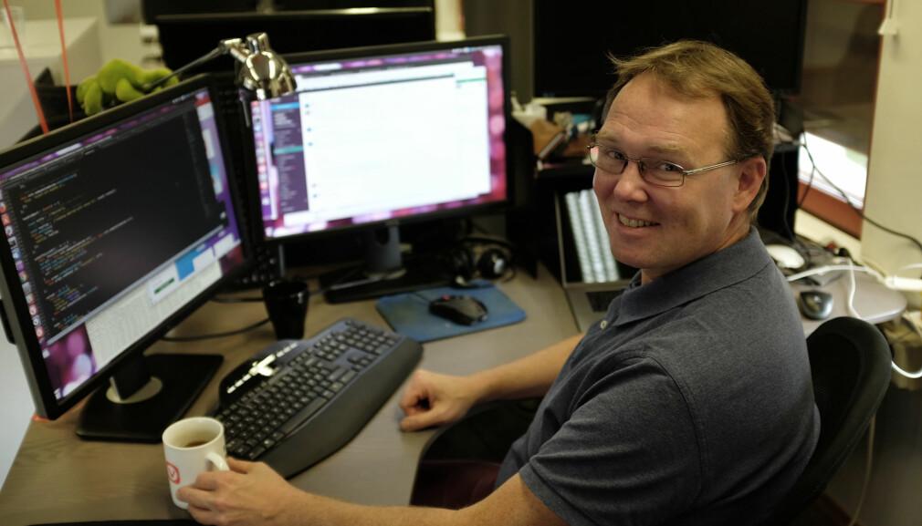 Espen Sand har egentlig en utdannelse innen mikroelektronikk, men har tilbrakt mye av karrieren sin innen utvikling av nettlesere. 📸 Jørgen Jacobsen
