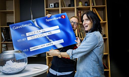 FLEST STEMMER: Utleira idrettslag ble klubben med flest stemmer i årets Klubben i mitt hjerte. Foto: Nina Hansen
