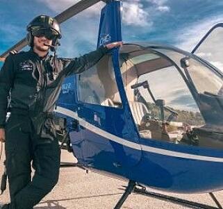 PILOT: Jørgen studerer for tida for å bli helikopterpilot. Foto: Privat