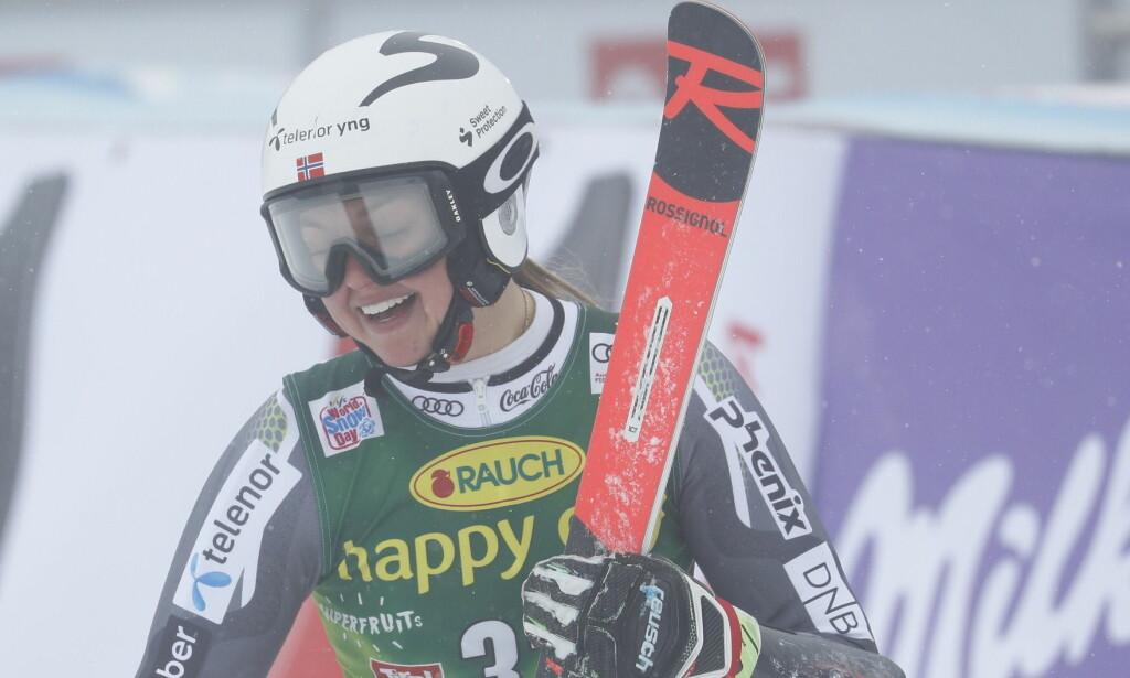 PRAKTOMGANG: Thea Louise Stjernesund kjørte en fantastisk finale. Foto: Bjørn Langsem / Dagbladet