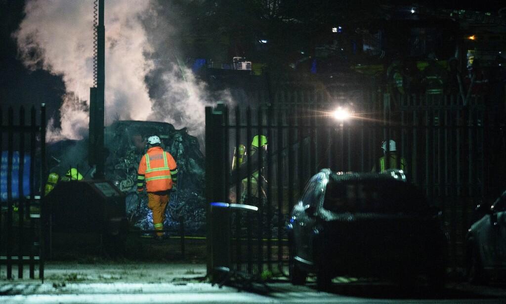 SLUKKET: Brannvesenet skal ha klart å slukke brannen. Foto: RYAN BROWNE/BPI/REX/SHUTTERSTOCK