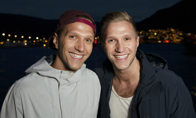 LIKE HELE - OG BLIDE: Markus og Nikolai avbildet sammen i Tromsø tidligere denne måneden. Foto: Ingun A. Mæhlum / Dagbladet