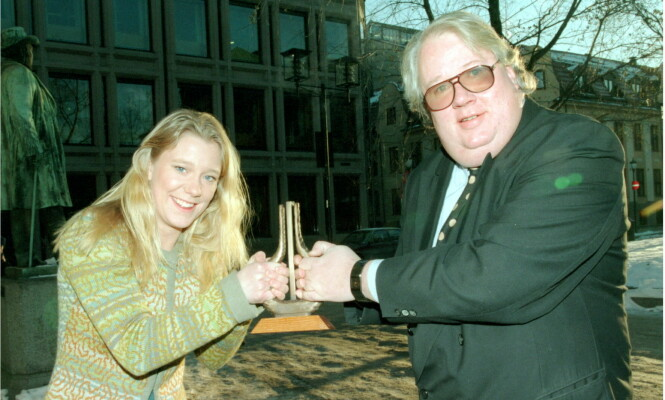 <strong>1997:</strong> Vera Micaelsen ledet blant annet Spellemannprisen sammen med Knut Borge i 1997. Foto: Erik Johansen Scanfoto / NTB Scanpix