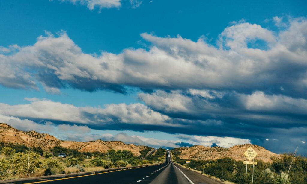 PÅ VEIEN: Vi kjørte 600 mil gjennom USA.
