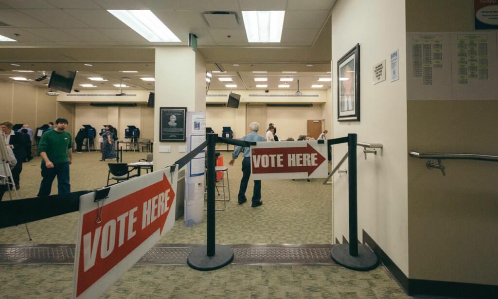 VALGLOKALER: I Nashville har valglokalene åpnet for dem som vil stemme før selve valgdagen 6. november.