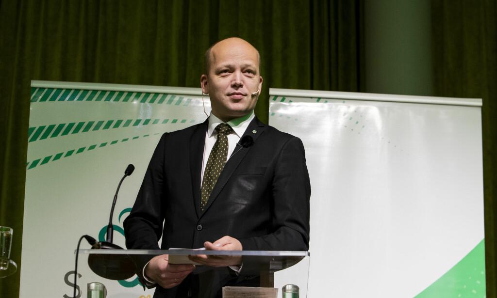 Elite: Partileder Trygve Slagsvold Vedum i Senterpartiet mener han skaper opprør mot eliten. Foto: Tore Meek / NTB scanpix