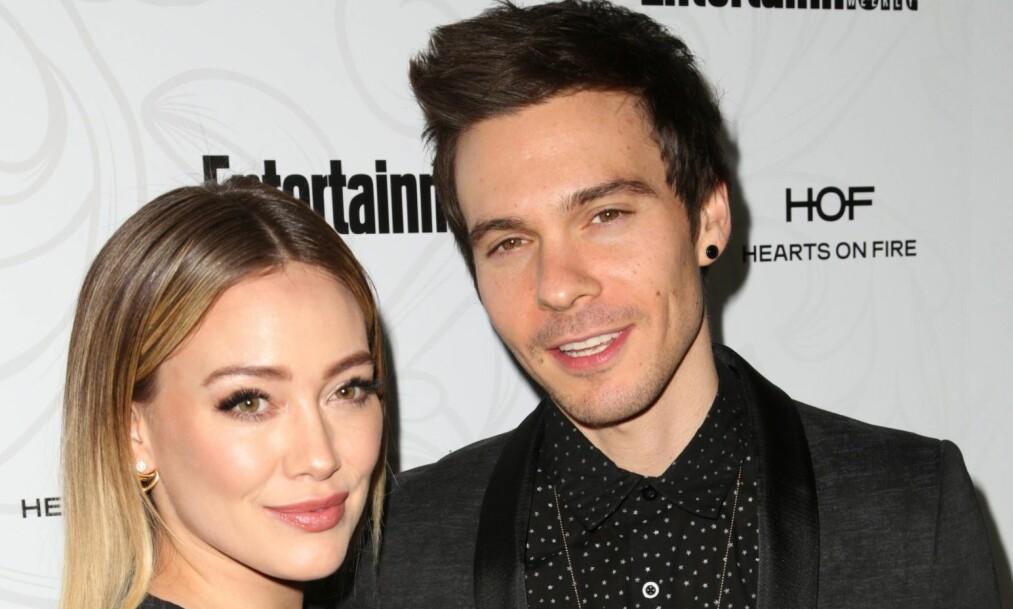 BLE FORELDRE: Hilary Duff (31) og musikerkjæresten Matthew Koma (31) har blitt foreldre sammen for første gang. Foto: NTB Scanpix