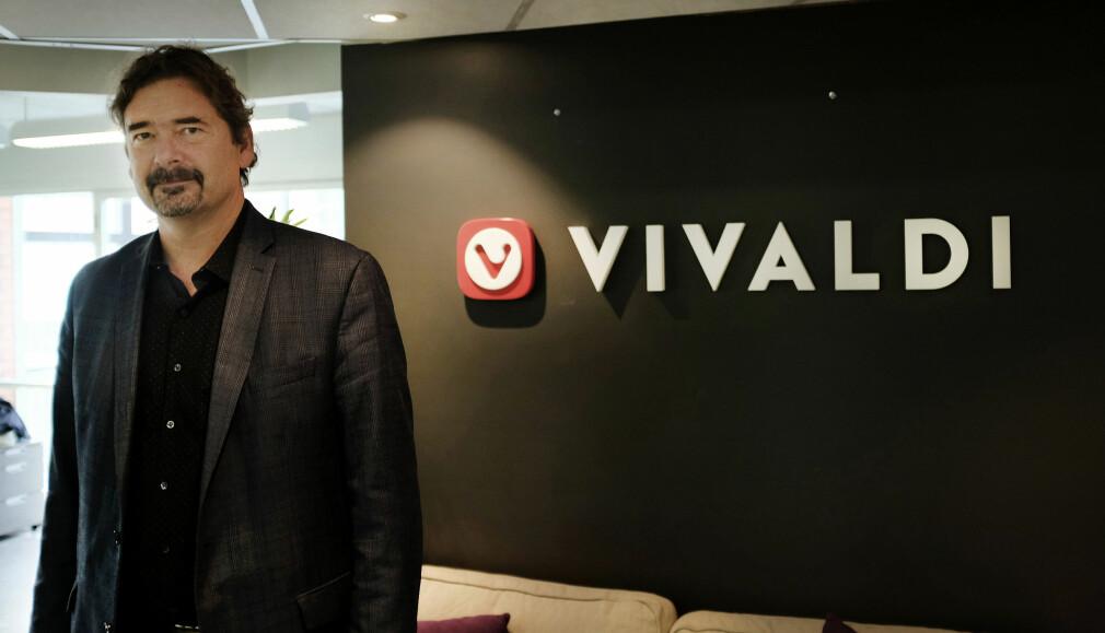 Jon Von Tetzchner finansierer nettleseren Vivaldi ut av sin egen lomme. 📸: Jørgen Jacobsen