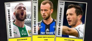 Dagbladet kårer de 50 beste fotballspillerne fra Sogn og Fjordane