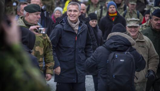 NATOS generalsekretær Jens Stoltenberg besøkte i dag Byneset i Trondheim under Trident Juncture. Foto: Hans Arne Vedlog /Dagbladet