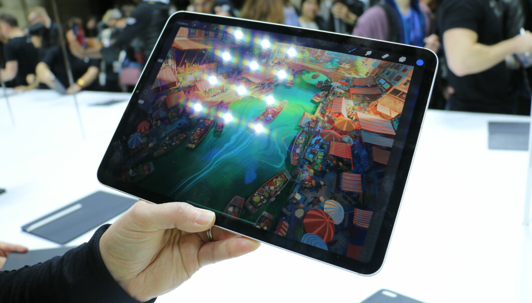 <strong>BLANT DE BESTE I KLASSEN:</strong> iPad-skjermene har alltid vært bra, og nye iPad Pro er intet unntak. Foto: Kirsti Østvang