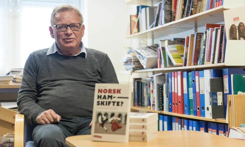Den kontroversielle boka til Terje Tvedt, «Det internasjonale gjennombruddet», får gjennomgå av Jostein Gripsrud i hans bok «Norsk hamskifte?». I dette innlegget går medieforskeren i rette med Dagbladets anmelder av hans bok. Foto: Tor Farstad
