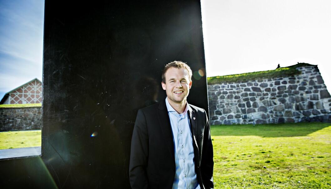 <strong>SJEFFORHANDLER:</strong> Nestleder Kjell Ingolf Ropstad skal lede KrFs forhandlinger med regjeringen. Målet er å bli en del av Solberg-regjeringen før jul. Foto: Nina Hansen