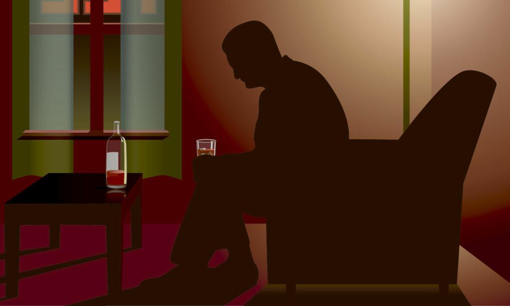 SYMPTOMER ETTER LANGVARIG ALKOHOLMISBRUK: Ved brå stopp kan man oppleve abstinenssymptomer. Delir og kramper er to svært alvorlige symptomer. Foto: NTB Scanpix/Shutterstock