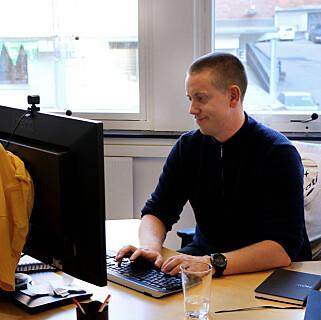Android-appen til Fiken er utviklet i Kotlin, forteller Aleksander Blomskøld til Kode24. 📸: Jørgen Jacobsen