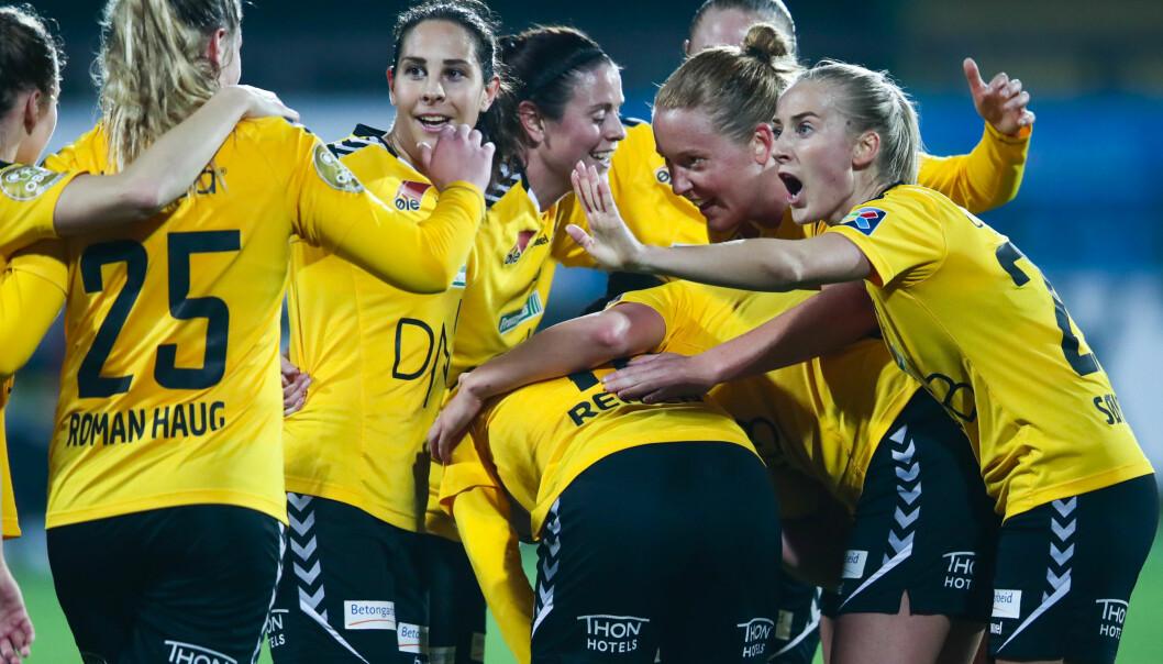 <strong>HERJET:</strong> Guro Reiten og LSK Kvinner er i kvartfinale i Champions League. Foto: Lise Åserud / NTB scanpix