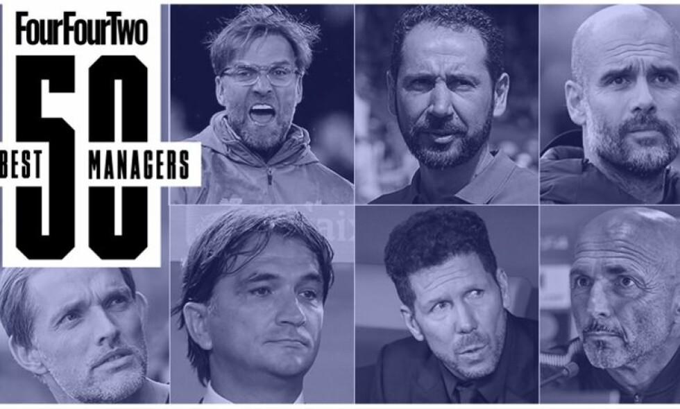 DE 50 BESTE: I denne artikkelen kårer FourFourTwo verdens 50 beste managere. Foto: FourFourTwo