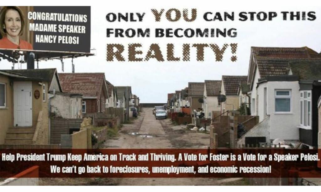 VIDEO: Med en politisk reklamevideo som inneholder dette stillbildet, håpte nok republikaneren Nick Stella på litt mediedekning. Men det er mulig at kandidaten ikke så for seg at han skulle få en engelsk kystby på nakken. Foto: Nick Stellas Facebook-side
