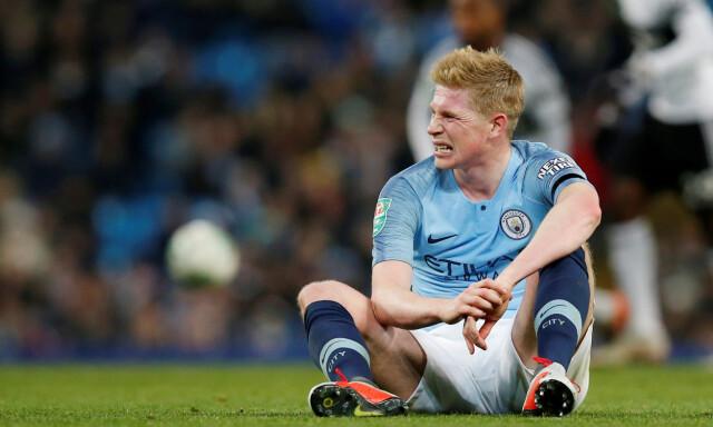 261c57e3 SKADET IGJEN: Kevin De Bruyne måtte gå av banen med skade i kampen mot  Fulham