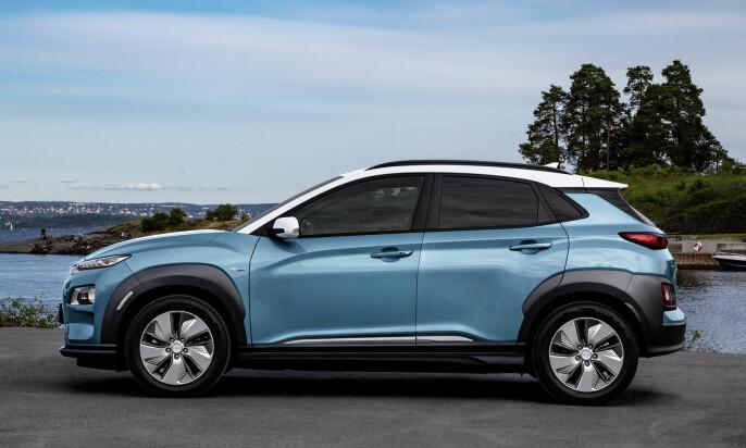 Halvannet års ventetid: På et tidspunkt hadde Hyundai 20.000 interessenter på deres elektriske Kona. Listen er nå noe kortere, men fortsatt vil det ta 1,5-2 år før alle som har bestilt bilen får den levert. Foto: Hyundai