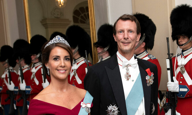 EKTEPAR: Prins Joachim er i dag gift med prinsesse Marie, som han har to barn med. Her er paret fotografert tidligere i år. Foto: NTB scanpix