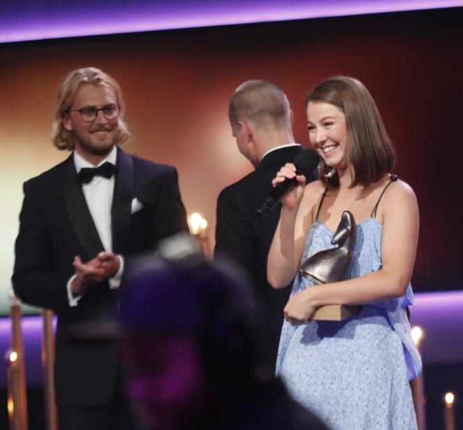 VANT PRIS: Andrea Berntzen vant Amanda for beste kvinnelige skuespiller. Foto: Scanpix