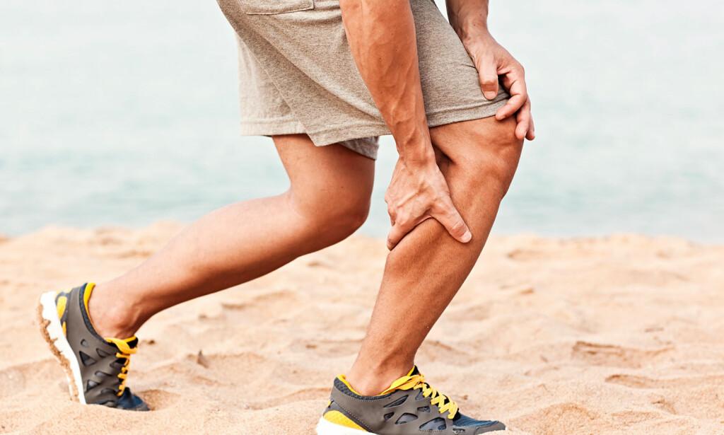 PLUTSELIG STREKKSKADE: En strekk i for eksempel legg eller lår kan medføre blødning i muskelen. Foto: NTB Scanpix/Shutterstock