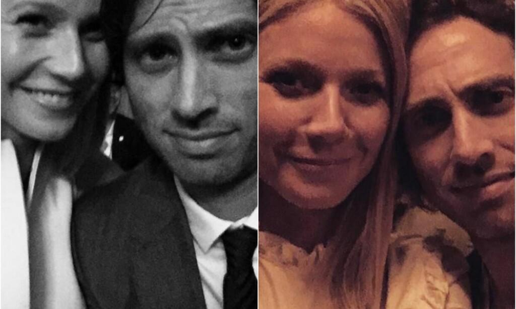 LYKKELIG GIFT: Det finnes få bilder av Gwyneth og Brad sammen i offisielle sammenhenger, men de poster av og til søte bilder på sosiale medier. Foto: Instagram