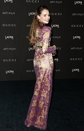 FJONG: Kristine Frøseth appeared in this Gucci creation about the error. Photo: NTB scanpix