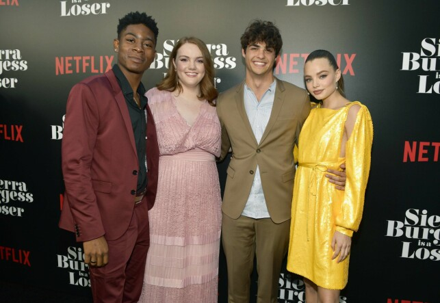 CELEBERT COMPANY: Actors RJ Cyler (23), Shannon Purser (21), Noah Centineo (22) and Kristine Frøseth (22) form the main team of the new teenage movie Netflix