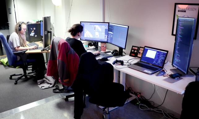 Hos Krillbite jobber det fire rene utviklere, og enda flere som gjør helt andre ting. 📸: Ole Petter Baugerød Stokke