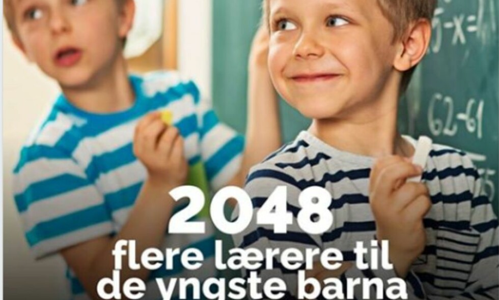 HELT FEIL: Faktisk.no skriver at Høyre sin reklamekampanje ikke stemmer. FOTO: Høyres Facebookside