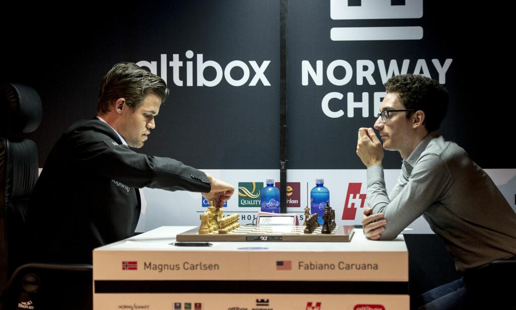 SKAL KJEMPE OM VM-TITTELEN: Magnus Carlsen møter Fabiano Caruana. Foto: Carina Johansen / NTB Scanpix