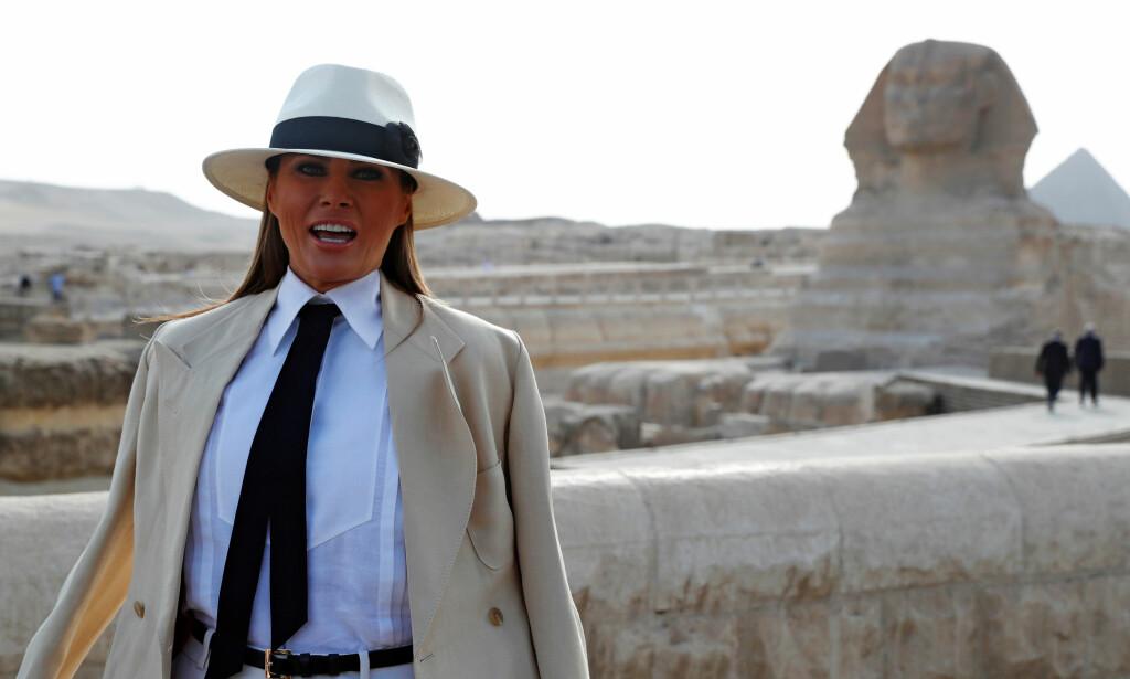 DYR I DRIFT: Melania Trumps besøk til Egypt kostet skattebetalerne nærmere 800 000 kroner. Førstedamen var bare i landet i seks timer, og det stilles derfor spørsmål ved hvordan regningen ble så høy. Foto: NTB scanpix