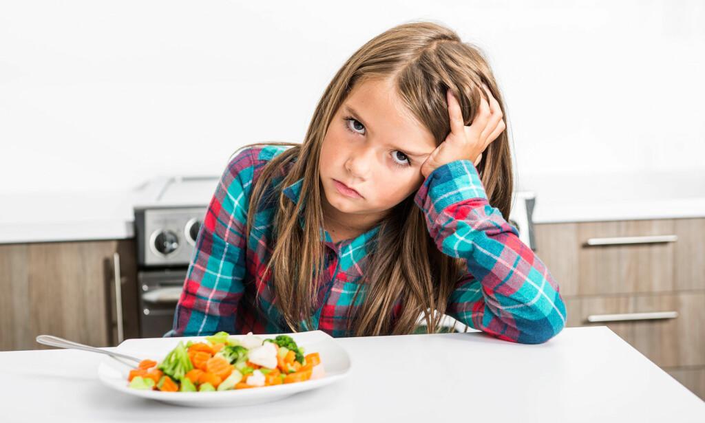 TRIST: Barnets kosthold vekker bekymring hos foreldre og andre voksne. Illustrasjonsfoto: NTB Scanpix/Shutterstock