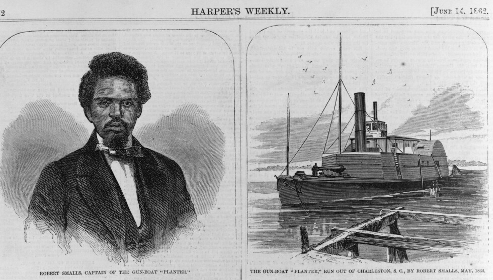 FLYKTET: Robert Smalls flukt med damperen Planter ble førstesidestoff over hele Nordstatene. <br>Faksimile: Harper's Weekly, 1862/ U.S. Customs and Border Protection