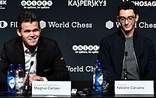 image: Spøkefull Carlsen: - Spørsmålet ditt er veldig opprørende